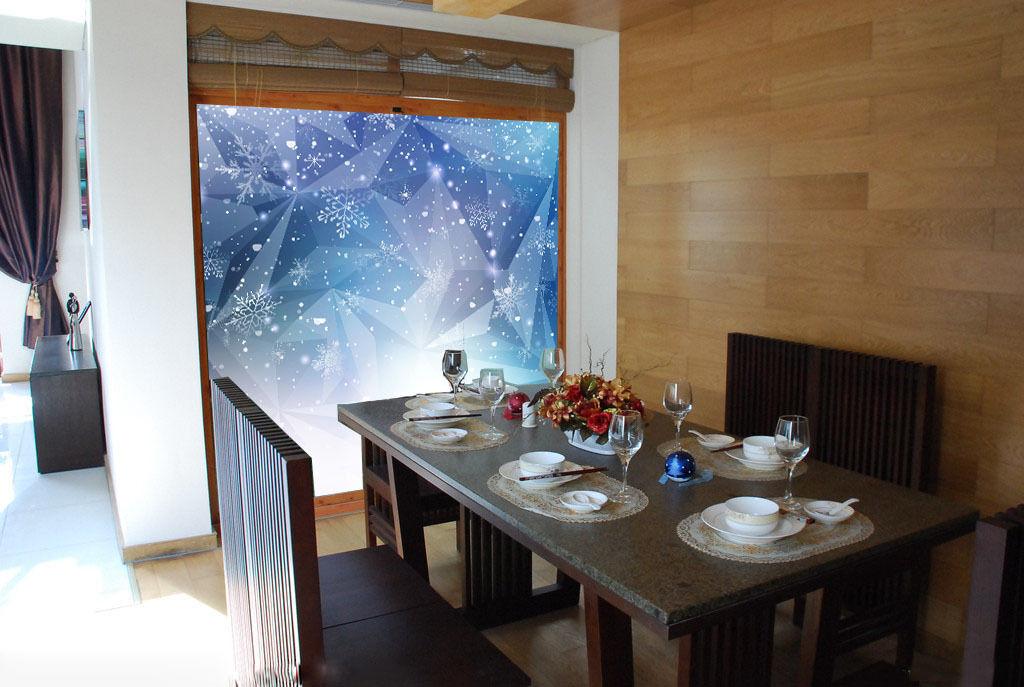 3D 3D 3D Pretty Snowflakes 68 Wall Paper Wall Print Decal Wall Deco Wall Indoor Murals c6dee8