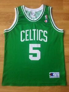 huge discount 5dd5c 01bd1 Details about NBA Boston Celtics Basketball Jersey Champion Kevin Garnett  #5 Size S