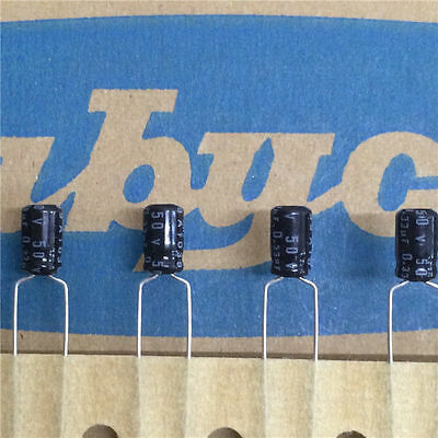 20pcs 50V 0.33uF 50V Rubycon MS7 4x7mm Aluminum Electrolytic Capacitor