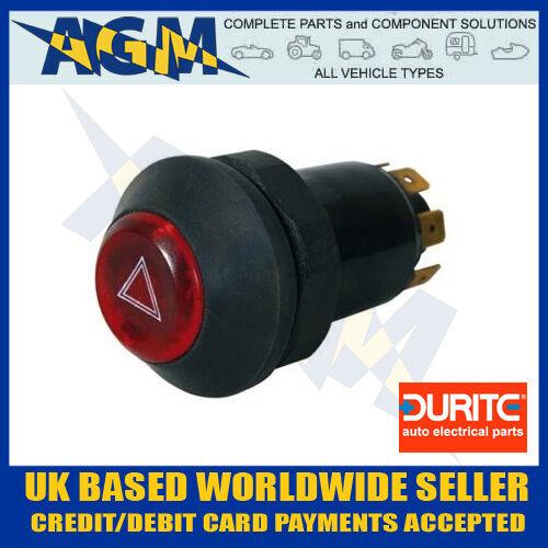 0-484-50 illuminé Universel 12V panel mount bouton poussoir commutateur de clignotant danger