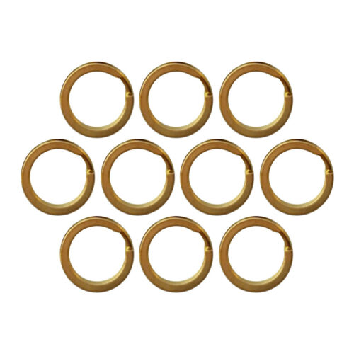 10X Rundring Schlüsselanhänger 15mm Messing-Farben Schlüsselringe Spaltringe