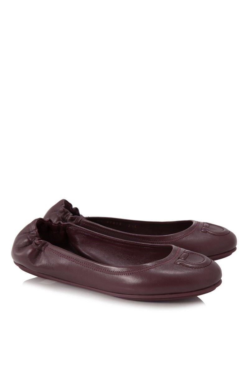 Neuf dans sa boîte neuf Salvatore Ferragamo Ferragamo Ferragamo Vignola Noir Vin Rose flats chaussures 5 6 7 8 9 10 11 3e1fdb