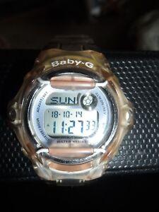 Casio-Baby-G-BG-169R-Ladies-Women-Wrist-Watch-5-Alarm-Clear-Brown-Resin-Strap