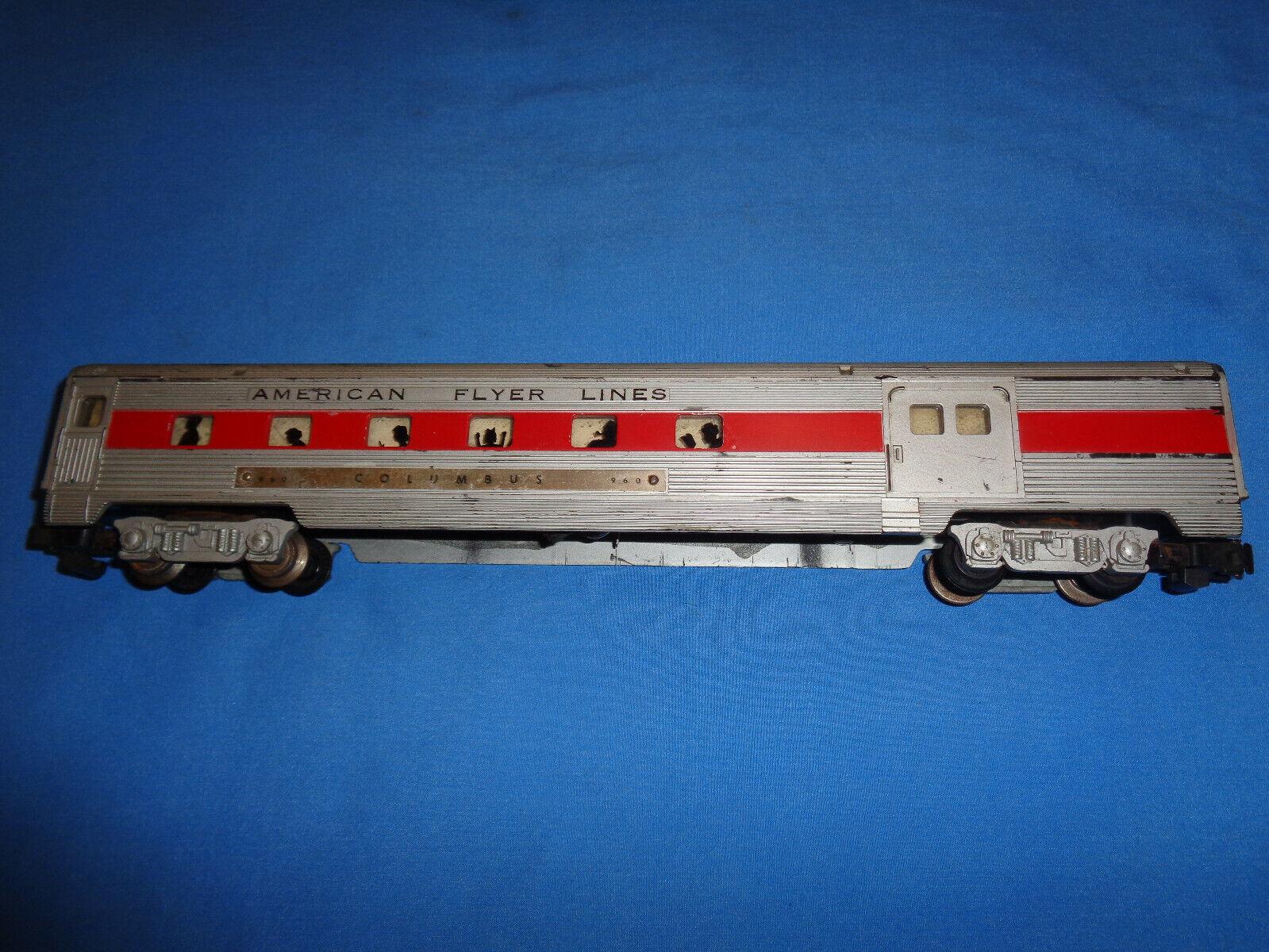 American Flyer  960 960 960 rosso Stripe Combine borsagage auto 25119f
