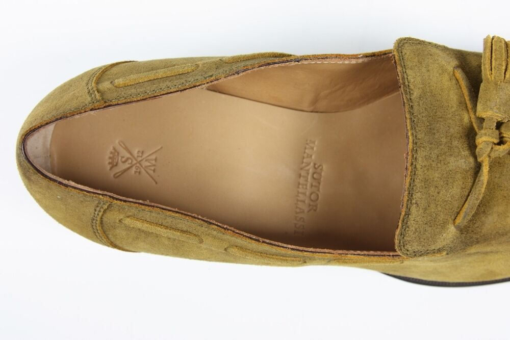 Sutor Mantellassi schuhe  10 UK 11   11 UK US Tan suede tassled loafers ac0177
