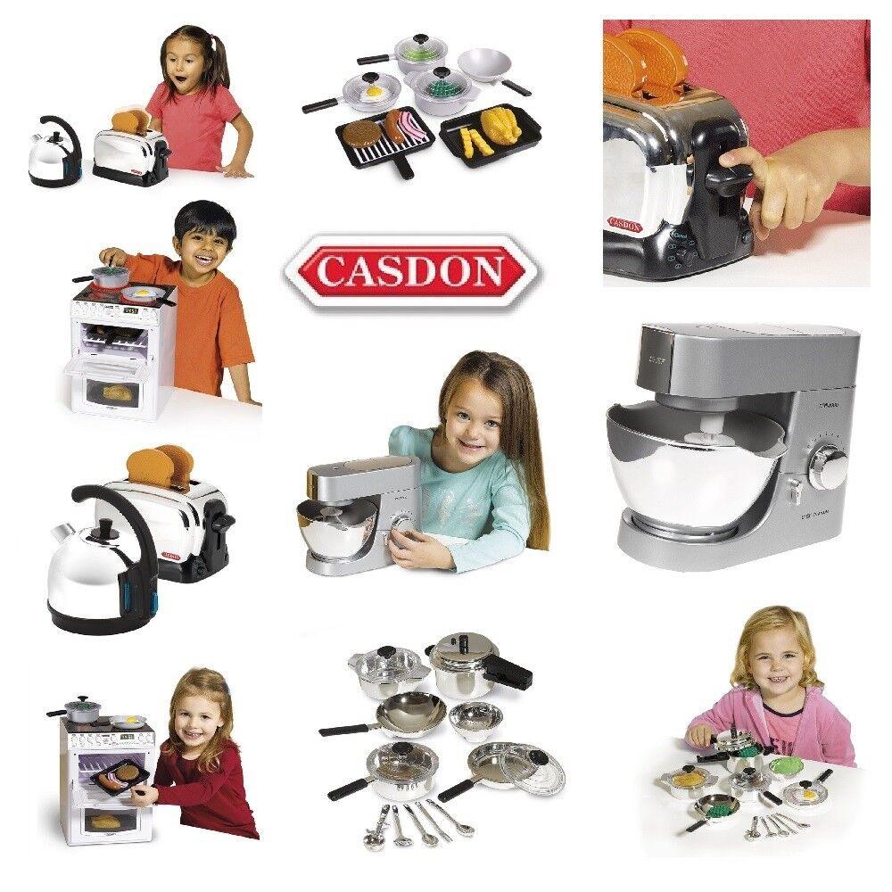 CASDON KIDS TOYS Kitchen Set Kettle Toaster Pan Cook Helper Roleplay Learn Gift