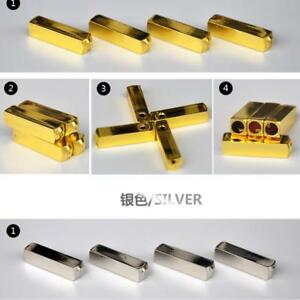 4pcs Aglet Shoe Lace Tips Aglets Screw Down Gold//Silver Color Shoelace Supplies