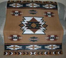 New Southwest 50x60 Aztec Polar Fleece Afghan Throw Gift Blanket Soft Brown NIP
