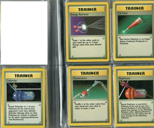 70 Cards NM//Mint - Complete Pokemon Card Base Set Uncommon//Common