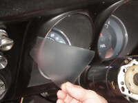 1967-1968 Camaro Dash Gauge Chrome Rings Speedo / Fuel Bezel Chrome Trim Rings