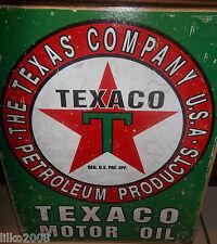 TEXACO MOTOR OIL/ GASOLINE/PETROLEUM 40X30cm  METAL WALL SIGN OIL/PETROL/GAS,USA