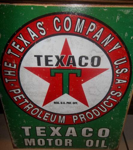 TEXACO MOTOR OIL// GASOLINE//PETROLEUM 41X31cm  METAL WALL SIGN OIL//PETROL//GREEN