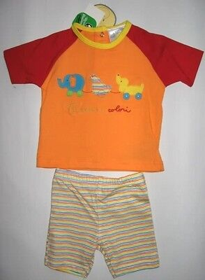 *authentic* Baby-set, Shorty-set, Shorty, Kurzer Pyjama, Baumwolle, Gr. 80, Neu