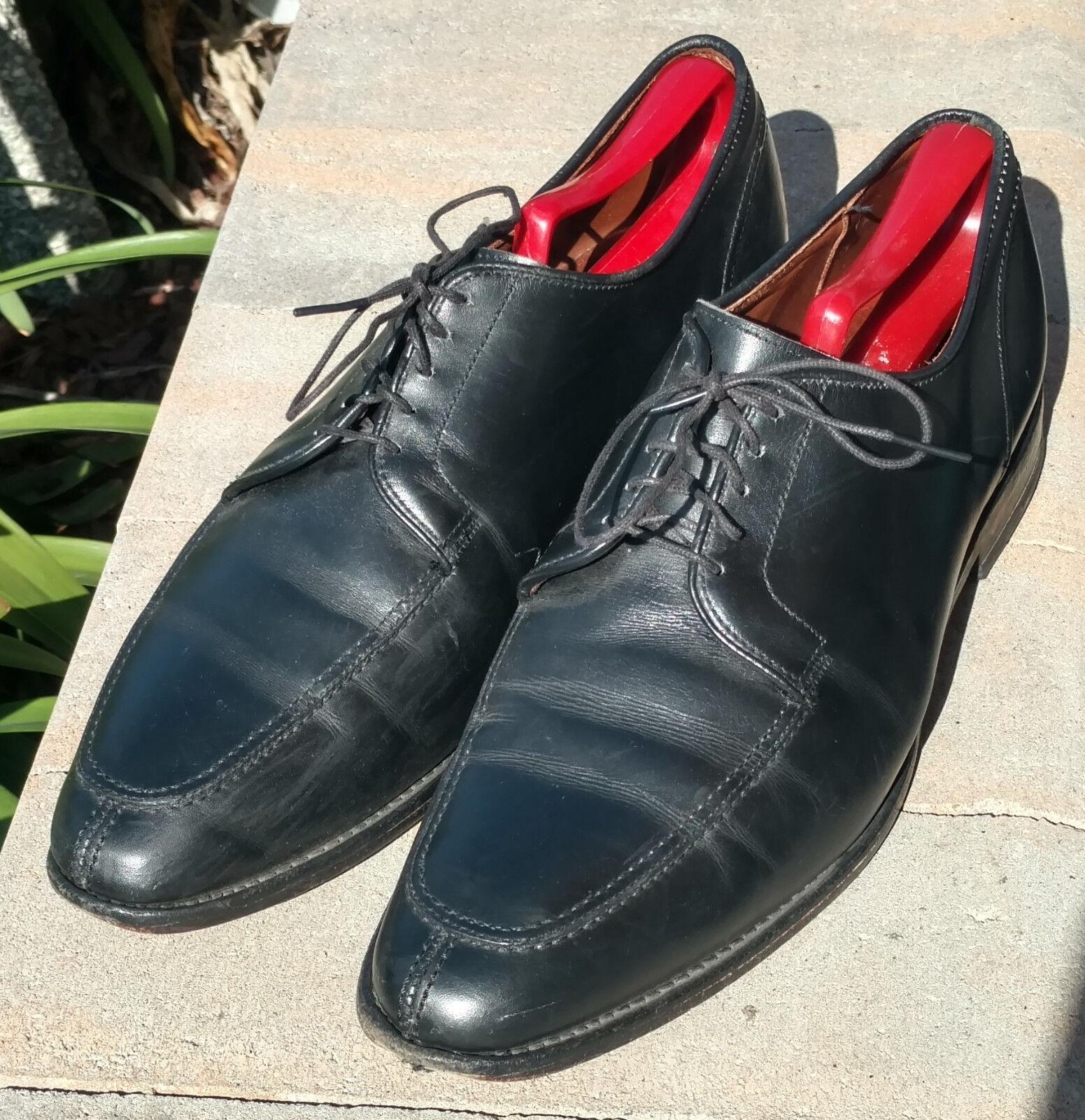 consegna gratuita Allen Edmonds LaSalle nero nero nero Split Toe Oxford Leather Uomo Dress scarpe Dimensione 10D  risparmiare sulla liquidazione