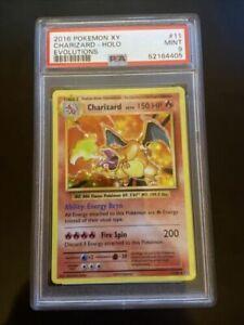 Pokemon XY Evolutions: CHARIZARD HOLO RARE CARD 11/108 - PSA 9 MINT