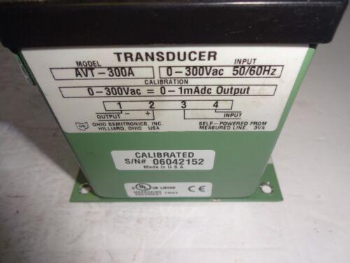 OHIO SEMITRONICS AVT-300A AC AVERAGE VOLTAGE TRANSDUCER