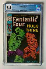 FANTASTIC FOUR #112  |  CGC 7.5  |  Classic Hulk vs. Thing battle issue