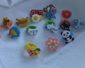 Mixed Lot of 250 pcs kids rings great for bath bombs fo