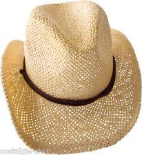 Kinder Cowboy Hut, Lederband Strohhut Tex Mex Western Hat Country Trapper, Cap