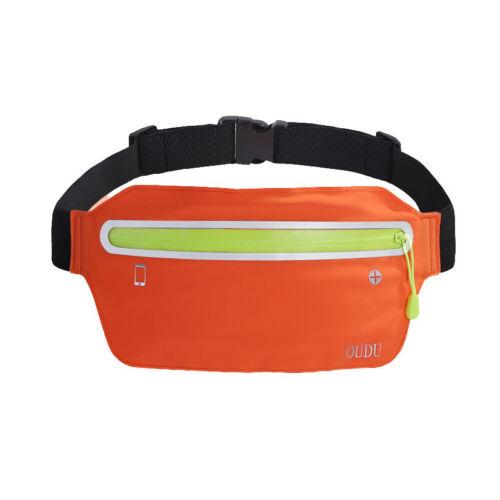 Waterproof Adjustable Sports Belly Waist Pack Bag Fitness Running Belt Pouch