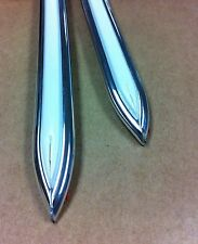"""Vintage type 5/8 """" White with Chrome body side molding formed pointed ends"""