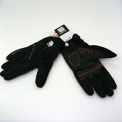Sportful Softshell Stretch Full Finger Cycling Glove Black Size XL