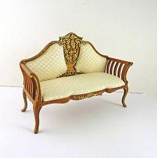 Dollhouse Miniature Beautiful Art Deco Style Settee, Sofa, 10008WN