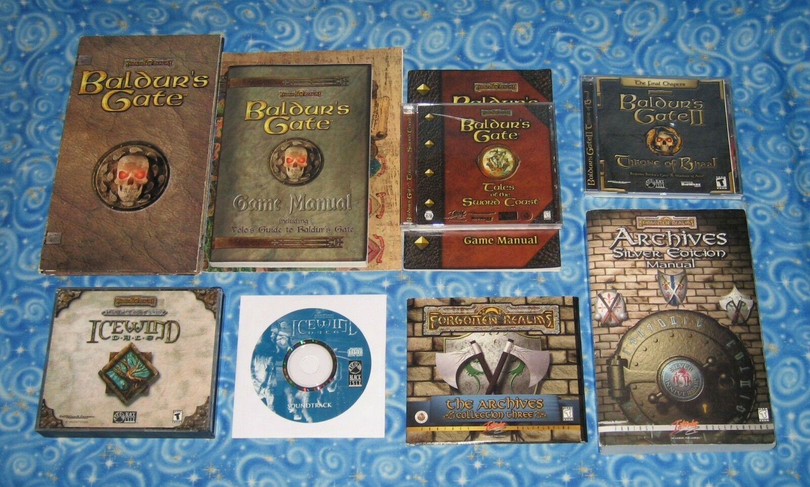 Vintage D&D Forgotten Realms PC CD Rom Video Games Software Baldurs Gate IWD