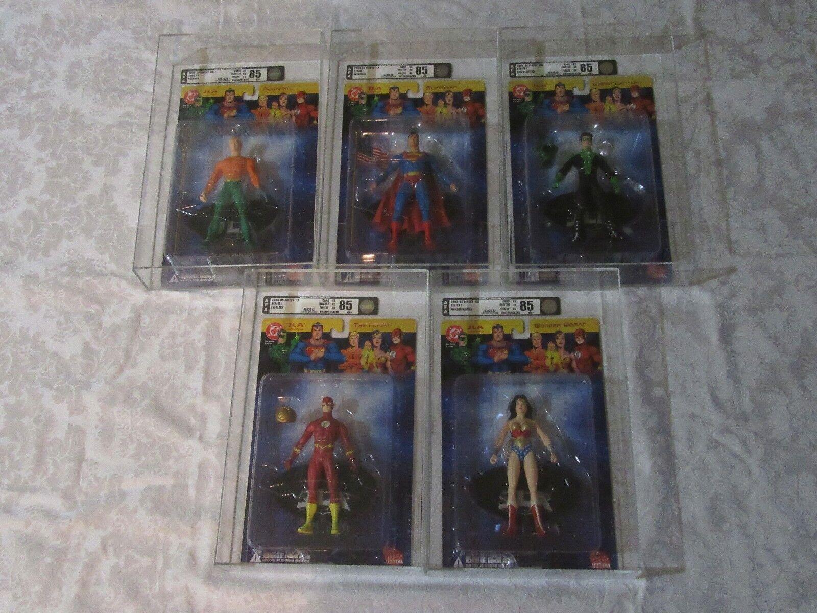 AFA Graded 85 DC Direct JLA Justice League of America Lot Set of 5 Series 1