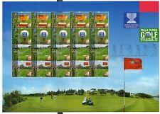 Malaysia  World Cup Golf Malaysia Stamp Sheet v20   1999
