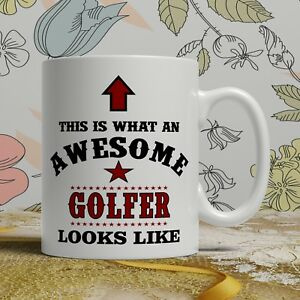 Image is loading Awesome-Golfer-birthday-gift-mug-for-him-her- & Awesome Golfer birthday gift mug for him her funny golf novelty ...