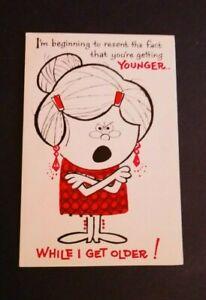 "Vintage Norcross Greeting Card Happy Birthday ""Getting Older"" 15B292-1"