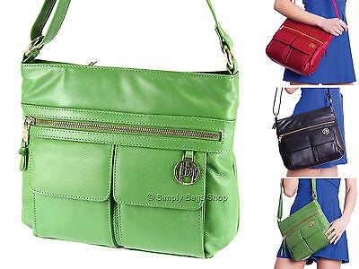 Primehide Ladies Genuine Luxury Leather Handbag Cross Body Shoulder Bag - 988