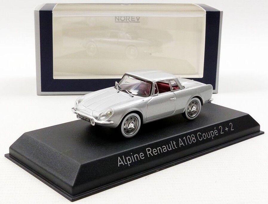 NOREV517821 - Voiture coupé sportive ALPINE RENAULT A108  22 de 1961 couleur gr