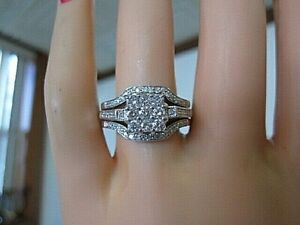 10 000 Look 595 Price 1 Ct Quality White Diamond 14k Engagement Ring Bands Ebay