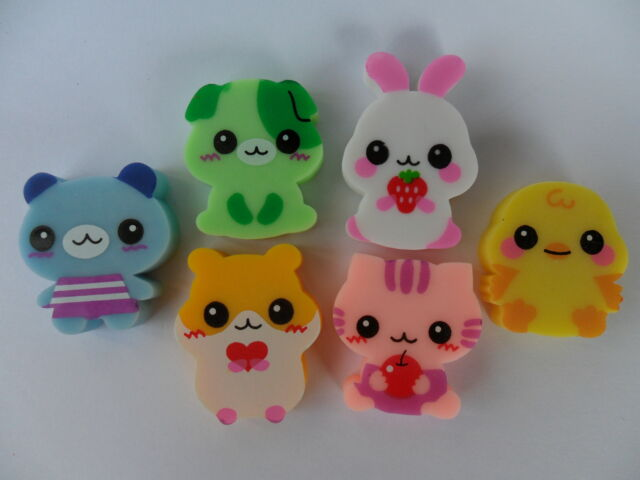 Novelty Japanese Eraser Rubber - Lemon Animal Eraser Set- Party Bag Gift!