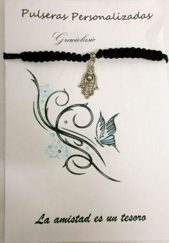 "Pulsera artesanal amuleto  /"" Mano de fatima /"""