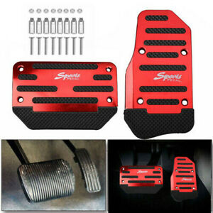 Universal Car Non-Slip Automatic Pedal Brake Foot Treadle Cover Red Accessories