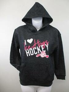 New-Rockford-Ice-Hogs-Youth-Girls-Sizes-S-M-L-XL-8-10-12-14-16-18-Black-Hoodie