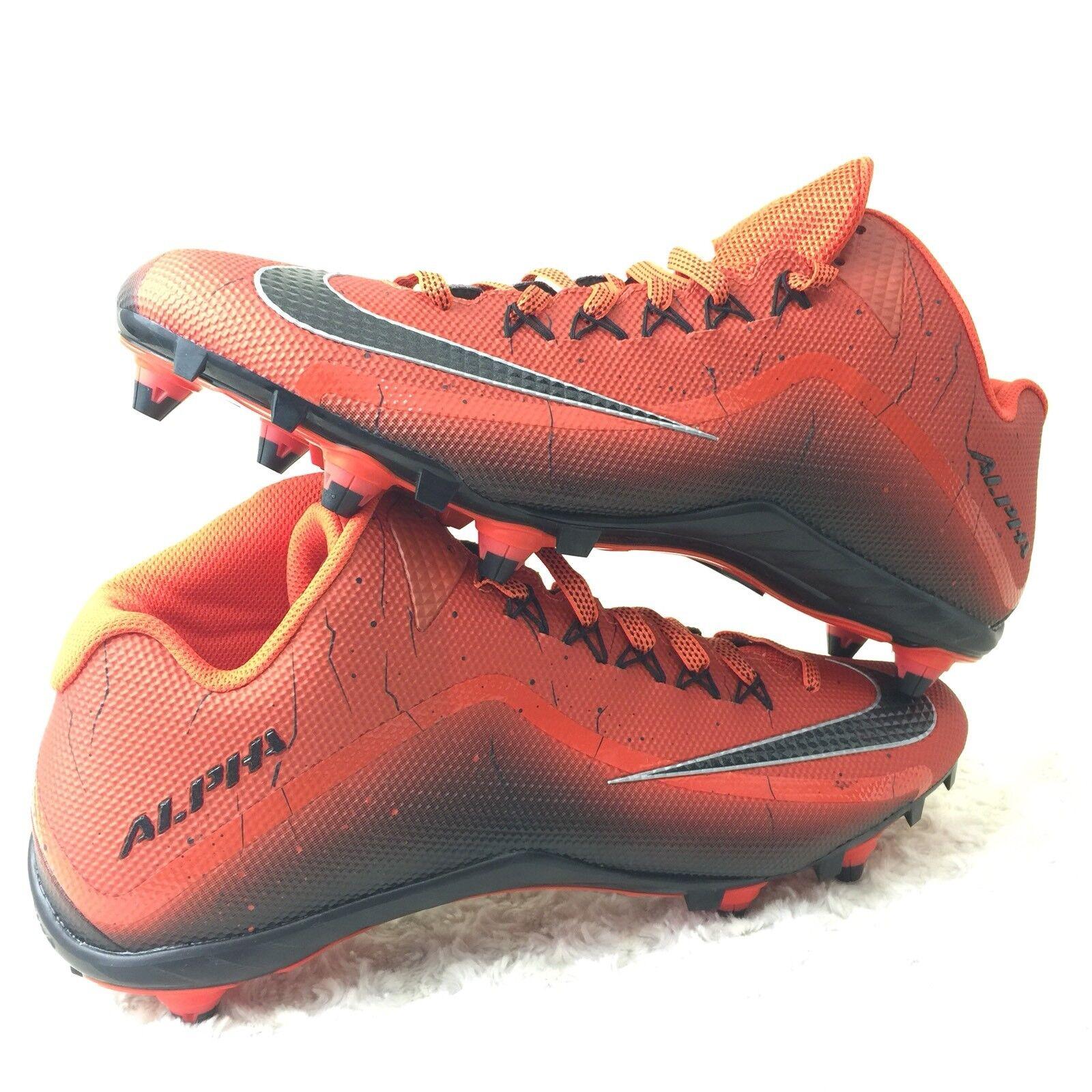 Nike Alpha Pro 2D Skin football Cleats Men Sz 16 US Shoes Orange 705409-800 New