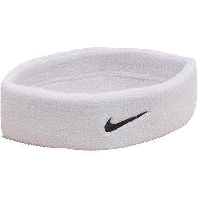 * Nuovo * Bianco Fascia Nike Swoosh- Buona Conservazione Del Calore