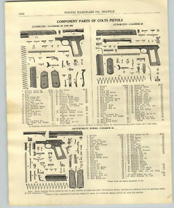 Details about 1917 PAPER AD Colt Pistol Revolver Parts Repair Army  Officer's Police Positive