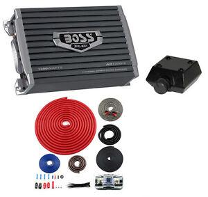 BOSS AR12002 1200W 2 Channel Car Audio Amplifier AR1200.2 + 4 Gauge Ga Amp Kit