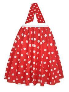Ladies-22-034-Red-amp-White-Polka-Dot-Rock-amp-Roll-Skirt-amp-Necktie-Fancy-Dress