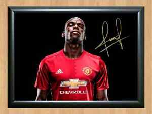 e11cd92be305f Details about Paul Pogba Manchester Signed Autographed A4 Photo Print  Poster Memorabilia