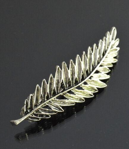 Épingle à Cheveux Barrette Feuille Pince Ressort 2 Modèles Bijoux de cheveux 70 mm haarkammer