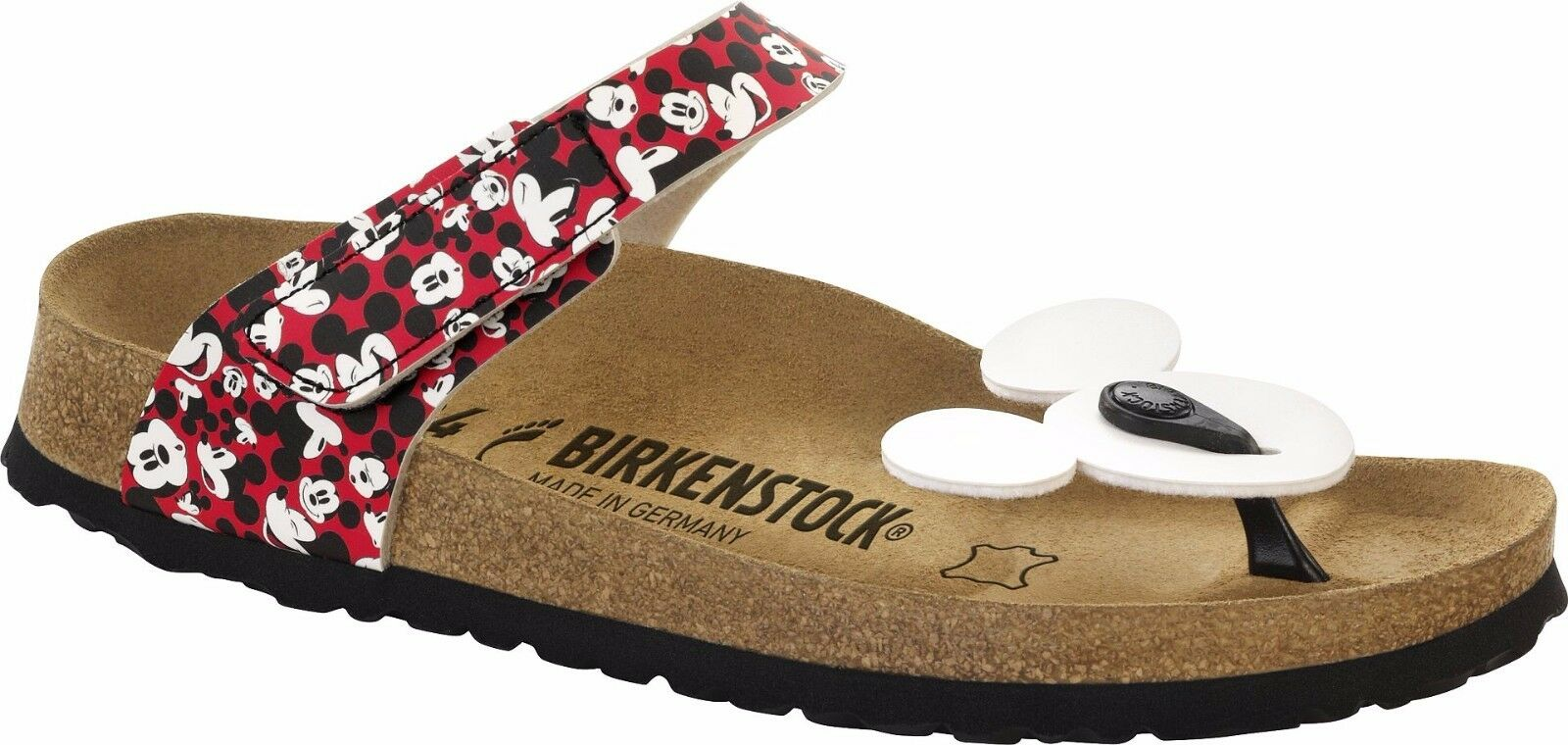 Birkenstock Tofino funny Mickey cara red Disney plantilla normal