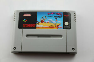 Jeu-LOONEY-TUNES-ROAD-RUNNER-pour-Super-Nintendo-SNES-version-PAL