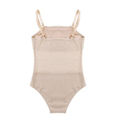 Girl Kid Ballet Gymnastics Adjustable Spaghetti Strap Leotards Dancewear Costume