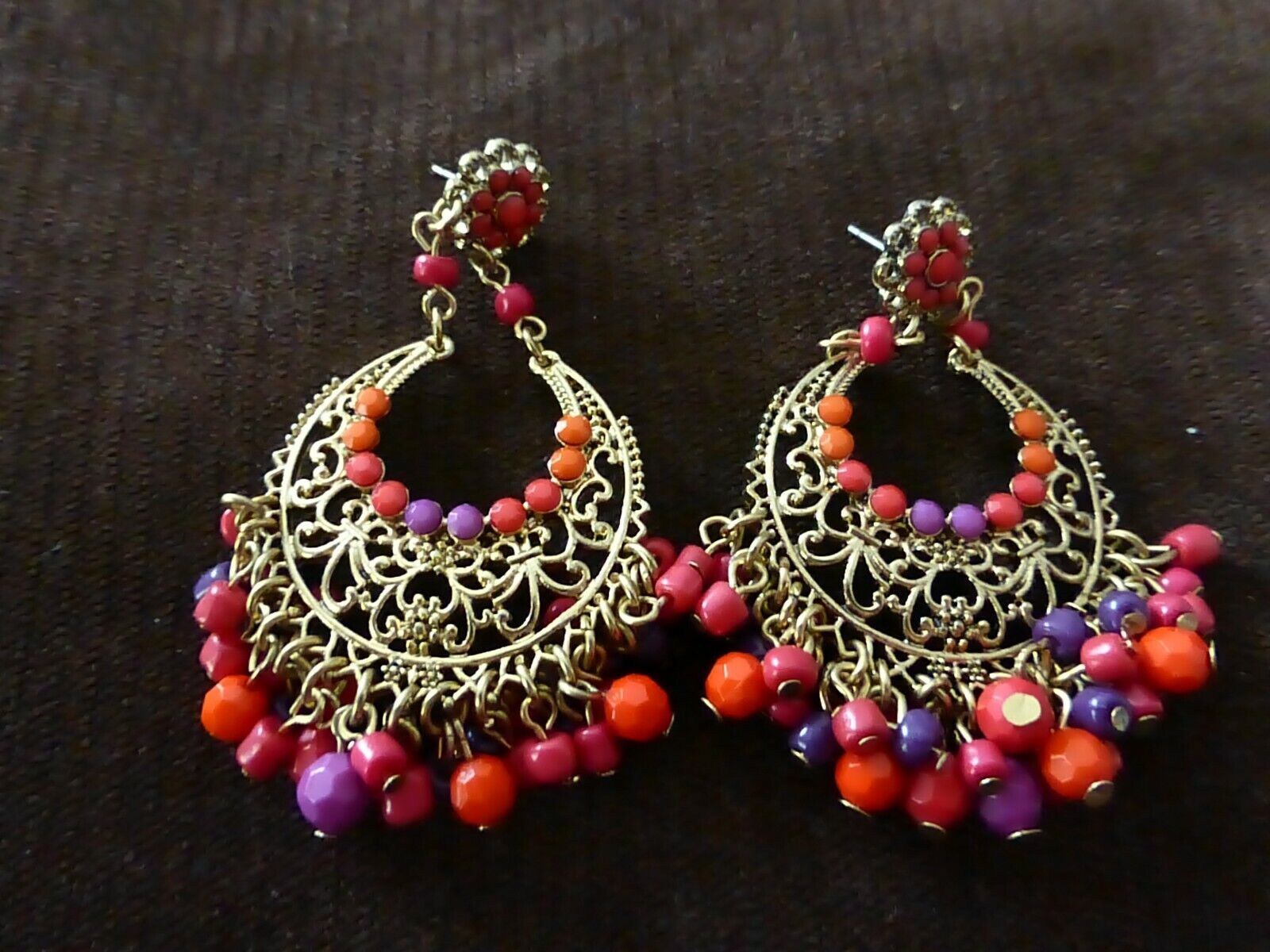 Earrings beads color h&m